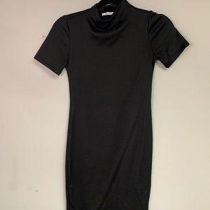 Zara Black Midi Fitted Dress Small